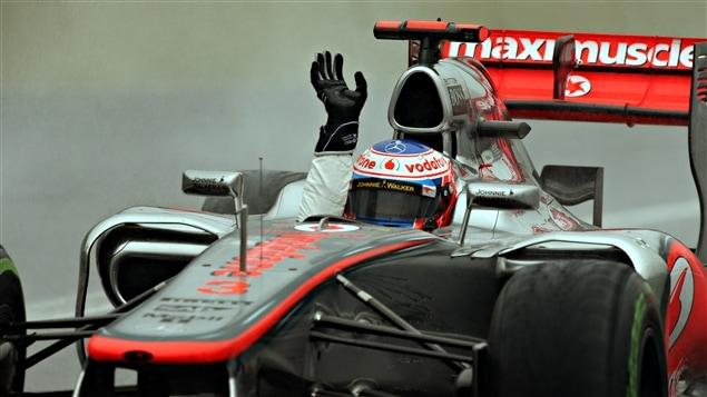 Jenson Button, victorieux au Brésil