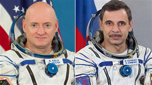 Scott Kelly et Mikhaïl Kornienko