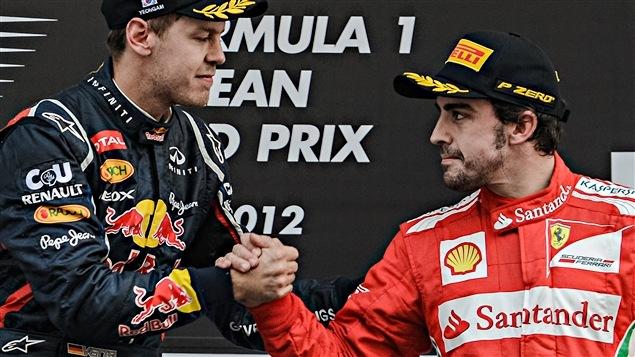 Sebastian Vettel et Fernando Alonso