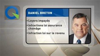 Le ministre de l'Environnement Daniel Breton est dans l'embarras.