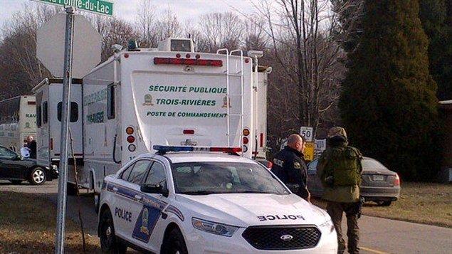 Intervention policière dans le secteur Pointe-du-Lac à Trois-Rivières
