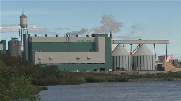 L'usine de Produits forestiers Résolu à Alma