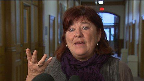 La directrice adjointe par intérim de l'Agence de santé et des services sociaux de Montréal, Louise Ayotte.
