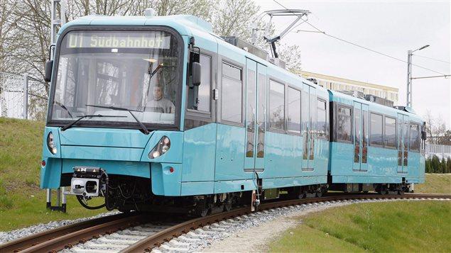 Une voiture de métro conçue par Bombardier Transport