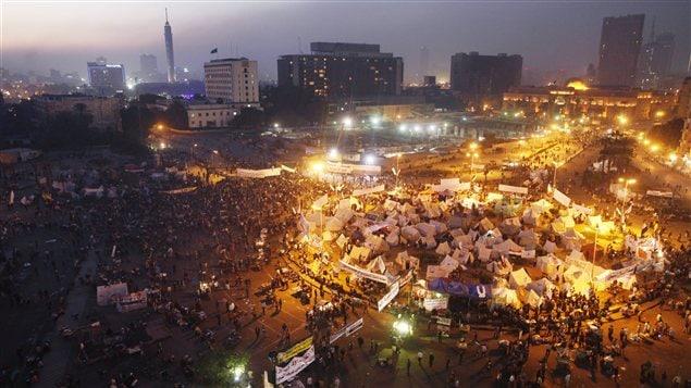 L'opposition au président Mohammed Morsi est réunie place Tahrir.