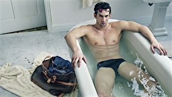 Michael Phelps pour Vuitton