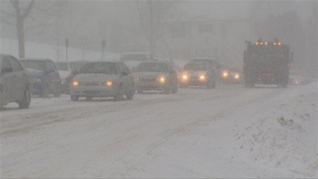 La circulation est difficile sur les routes du Saguenay-Lac-Saint-Jean