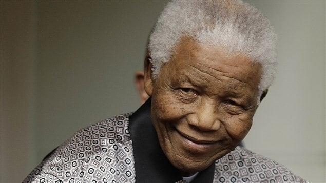 L'ex-président de l'Afrique du Sud Nelson Mandela en juin 2008.