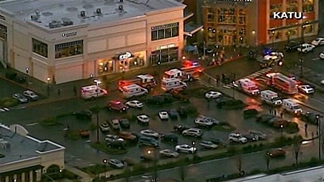 Centre commercial où est survenue une fusillade près de Portland, en Oregon