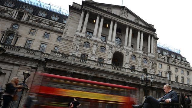 La Banque d'Angleterre, à Londres.