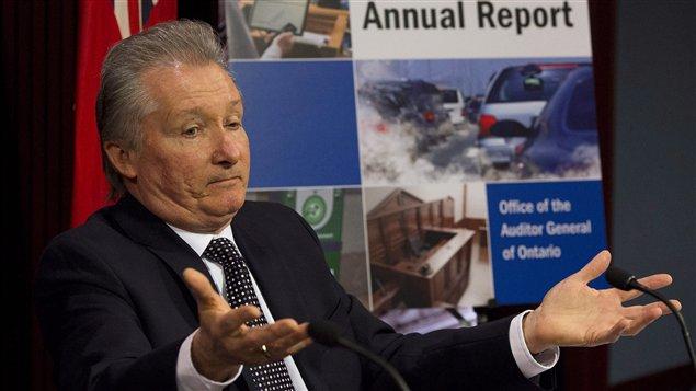Le vérificateur général de l'Ontario, Jim McCarter
