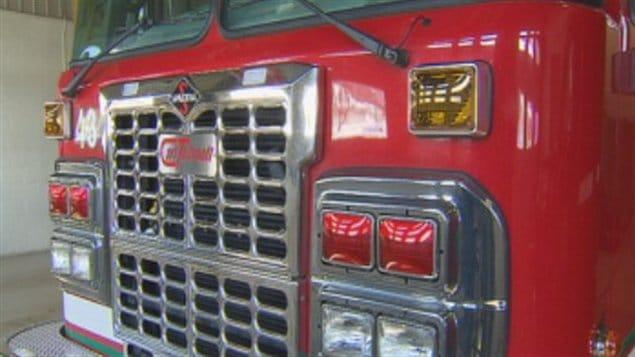 Camion des pompiers de Trois-Rivières