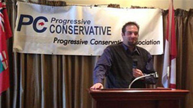 Brayden Mazurkiewic sur une de ses photos de profil sur Facebook.