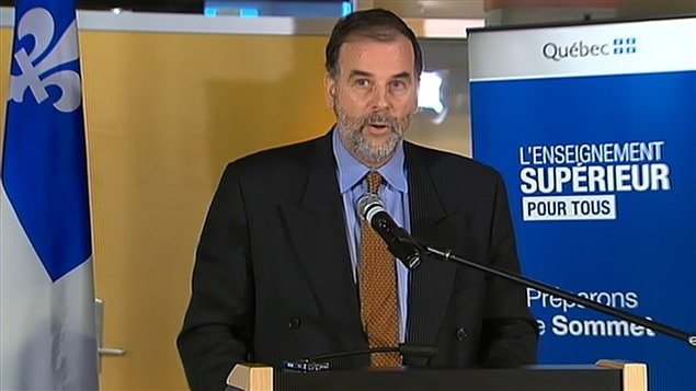 Le ministre de l'Enseignement supérieur du Québec, Pierre Duchesne