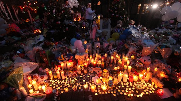Mémorial pour les victimes de la tuerie de Newtown