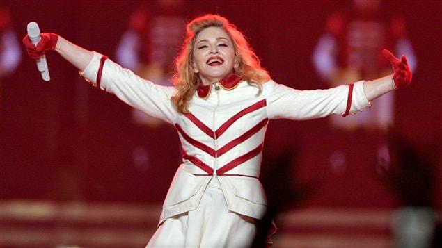 Madonna en concert le 10 octobre dernier à Los Angeles, en Californie.