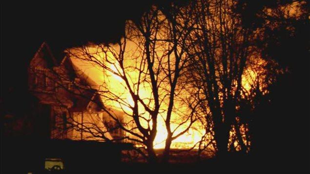 Incendie à Mont-Saint-Hilaire