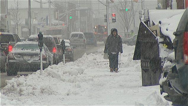 La tempête de neige dans les Maritimes
