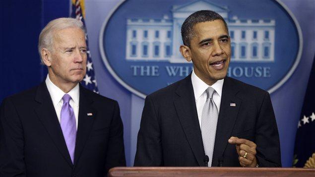 Le vice-président Joe Biden et le président Barack Obama.