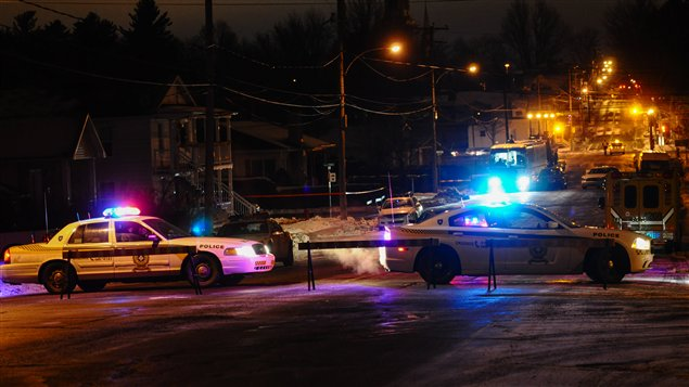 Opération policière à Victoriaville