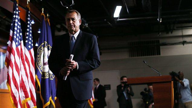 Le président de la Chambre des représentants, le républicain John Boehner