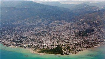 Vue aérienne de Port-au-Prince, capitale d'Haïti