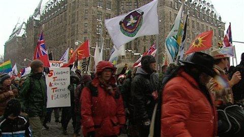Manifestation du mouvement Idle no more à Ottawa le 21 décembre