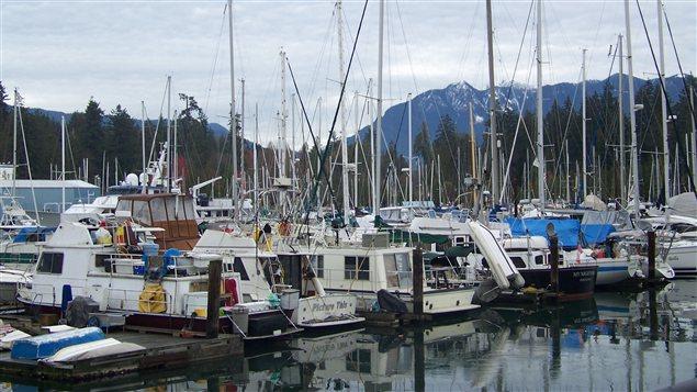 Une marina du quartier Coal Harbour à Vancouver
