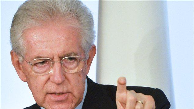 Mario Monti, chef du gouvernement démissionnaire