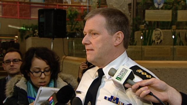 Le chef adjoint de la police d'Edmonton, Brian Simpson