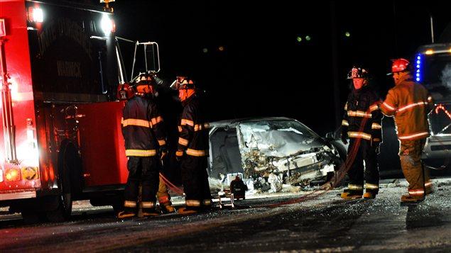 Accident sur la route 116 Ouest entre Kingsey Falls et Warwick