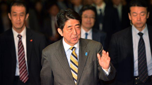 Le nouveau premier ministre du Japon, Shinzo Abe