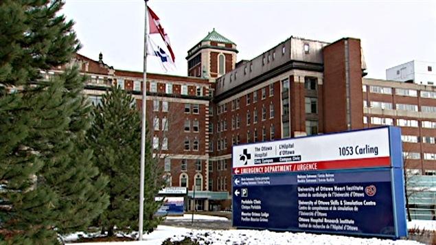 Urgence de l'Hôpital général d'Ottawa.