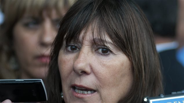 L'ancienne ministre de l'Économie de l'Argentine, Felisa Miceli