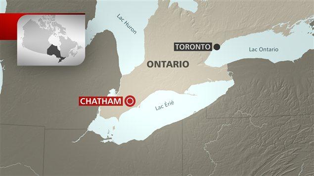 Carte de Chatham, en Ontario