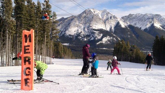 Une piste à la station de ski Nakiska, près de Calgary