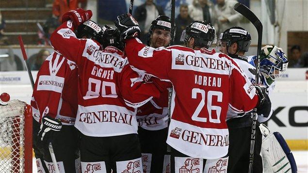 L'équipe canadienne à la Coupe Spengler.