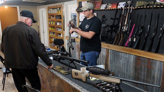 Un vendeur d'armes au Texas