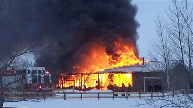 Un incendie a détruit cette maison de Grandora le 1er janvier 2013.