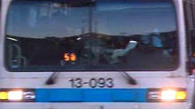 Un autobus de la STM