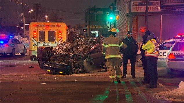 Un homme a été blessé dans un accident survenu dans l'arrondissement Villeray-Saint-Michel-Parc-Extension