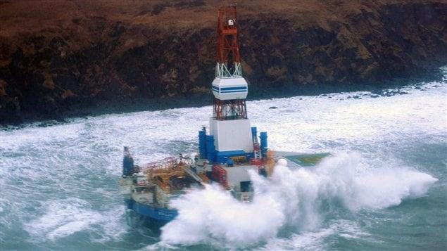 Kulluk platefore échouée Alaska