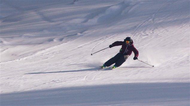 Skieur à Val-Neigette