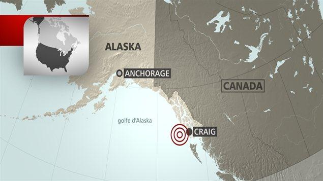 Carte de Craig en Alaska