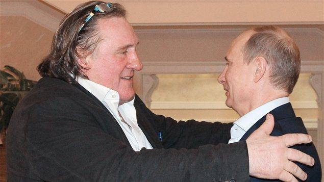 L'acteur français Gérard Depardieu rencontre le président russe Vladimir Poutine dans sa maison de Sotchi