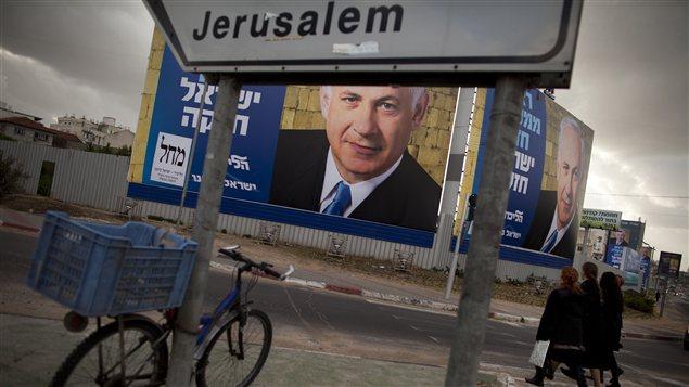 La campagne électorale bat son plein en Israël pour les élections générales du 22 janvier prochain, comme ici à Bnei Brak, près de Tel Aviv