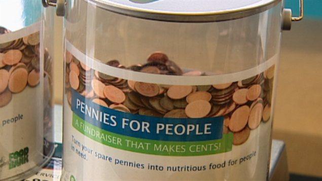 Des pièces d'un cent pour la Banque alimentaire