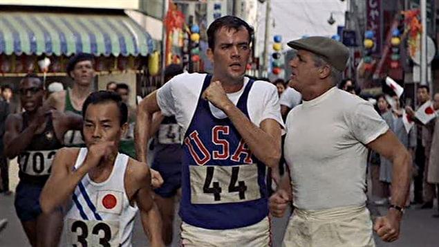 Cary Grant pendant le tournage des Jeux de Tokyo en 1964