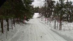 Au prix d'un travail acharné, le club de motoneige L'ours blanc est parvenu à  dégager la moitié des sentiers depuis Noël.