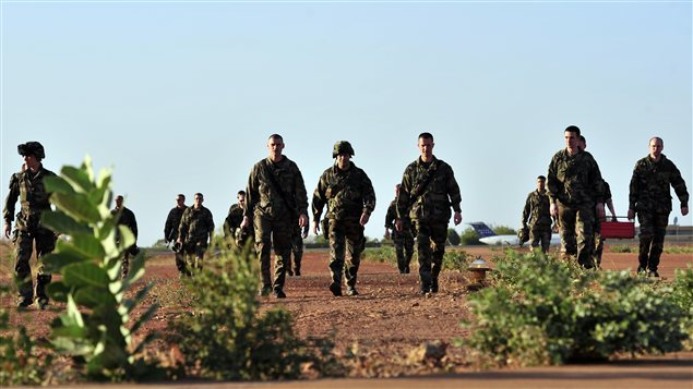 Des soldats français à Bamako le 14 janvier 2013.